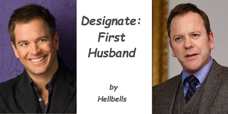 Three-part panel.  Tony DiNozzo on left, Tom Kirkman on right.  Middle is blank with text reading 'Designate: First Husband'.