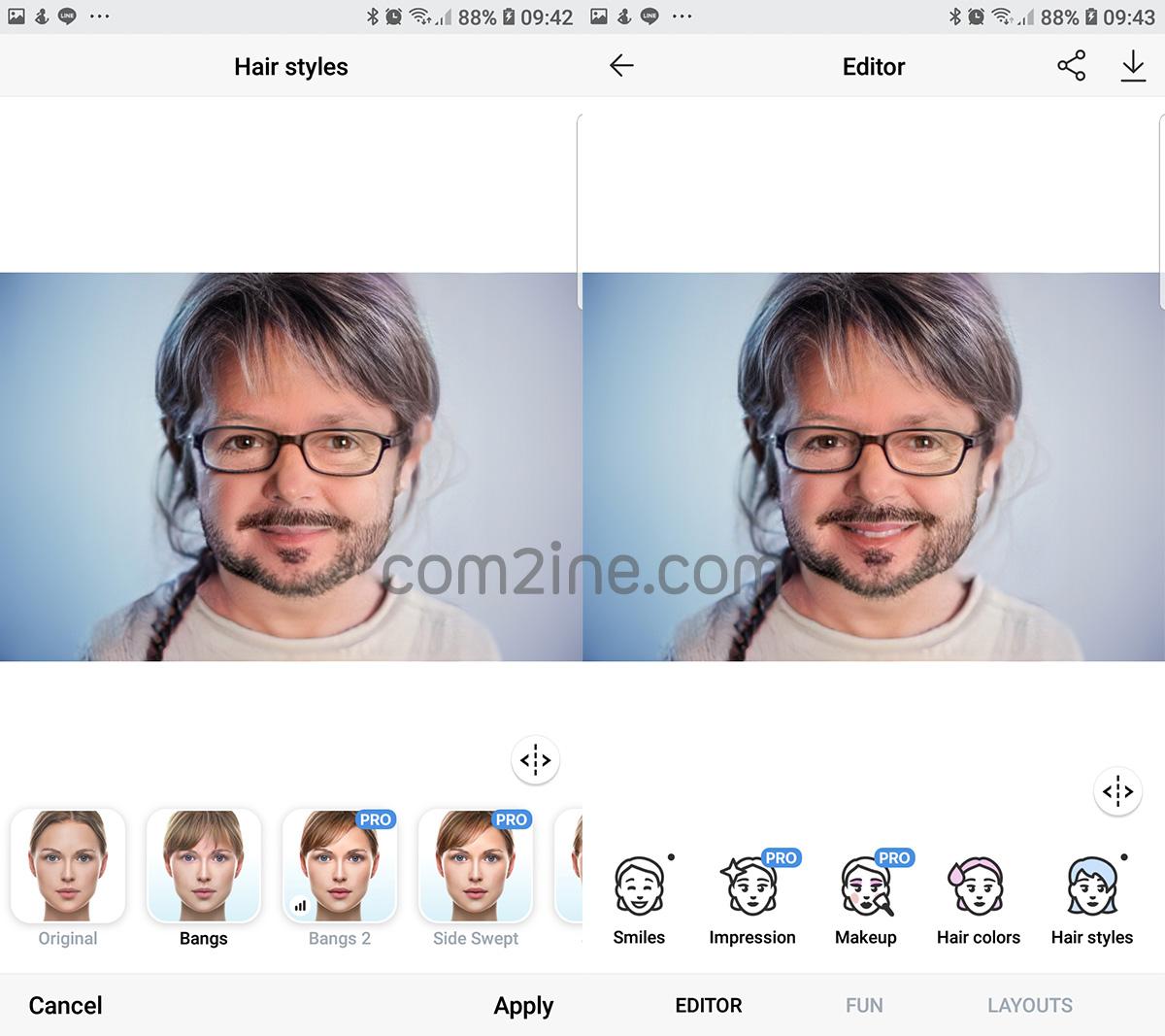 หน้าแสดงใส่แว่น เติมหนวด แอพหน้าแก่ ที่กำลังฮิต FaceApp