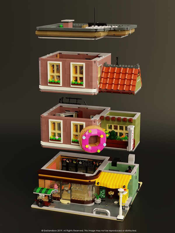 Doughnut Shop (Exploded View)