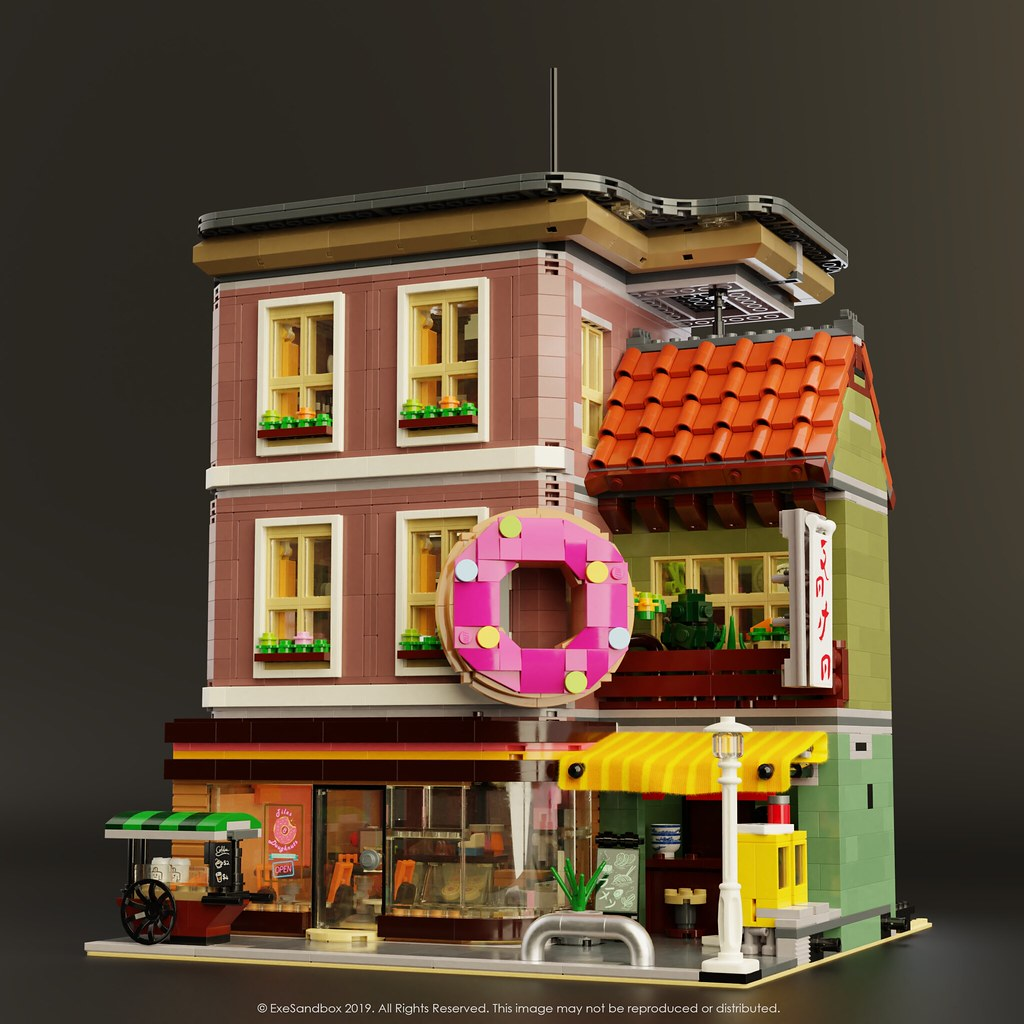 Doughnut Shop (custom built Lego model)