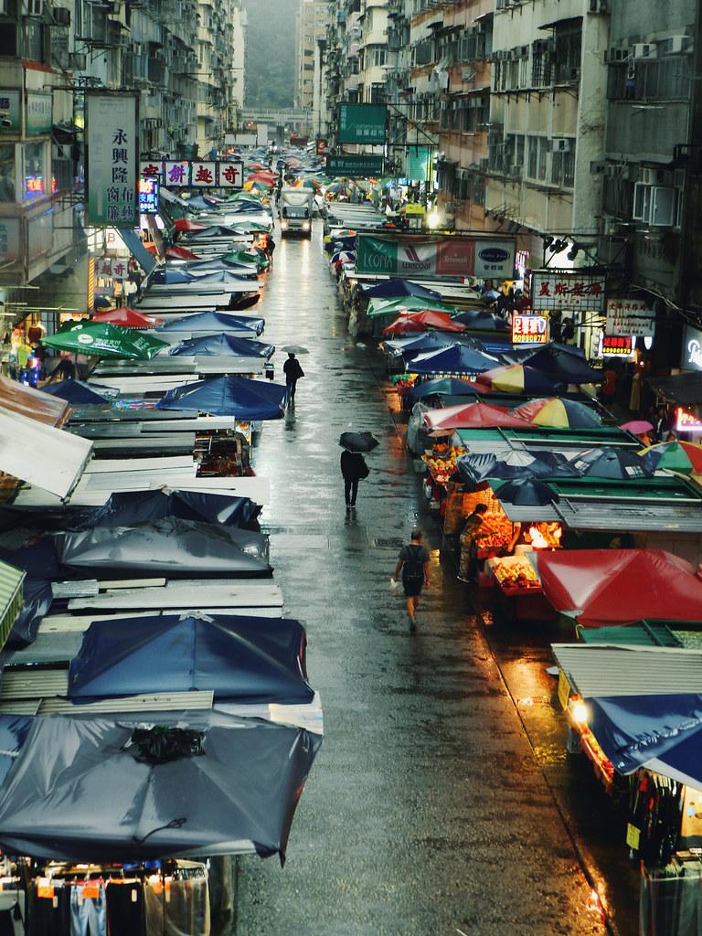 Street Market (edited), Mong Kok