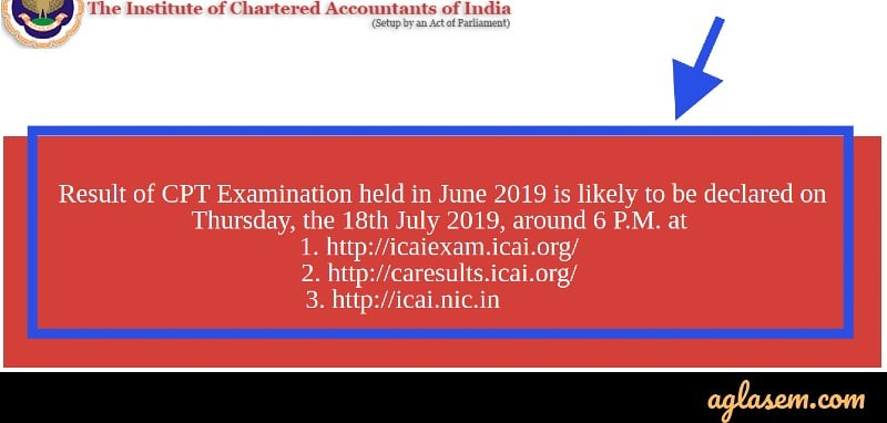 CA CPT Result 2019 Announced; Link to Check Here