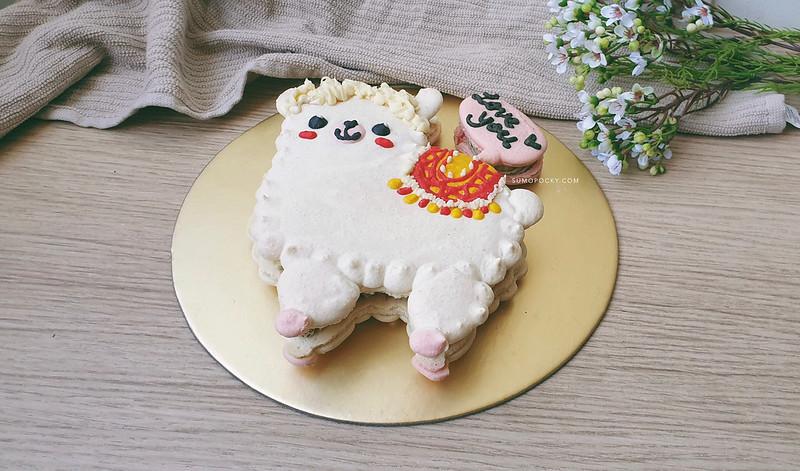 Alpaca Macaron Cake Recipe