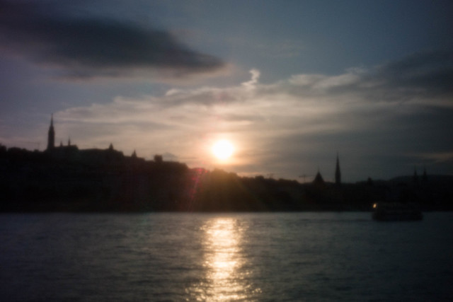 Sunset on the Danube - Budapest