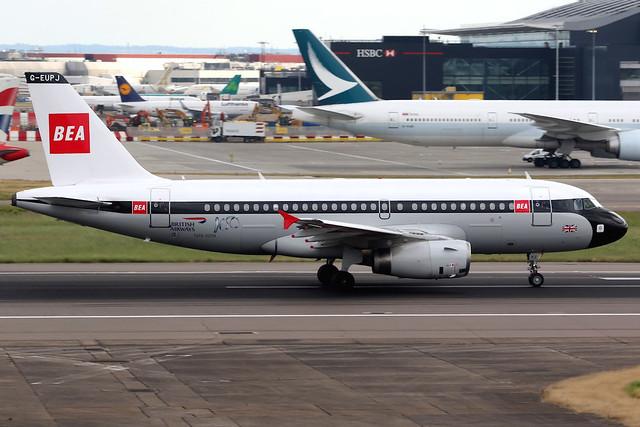 British Airways | Airbus A319 | G-EUPJ | BEA retro livery | London Heathrow