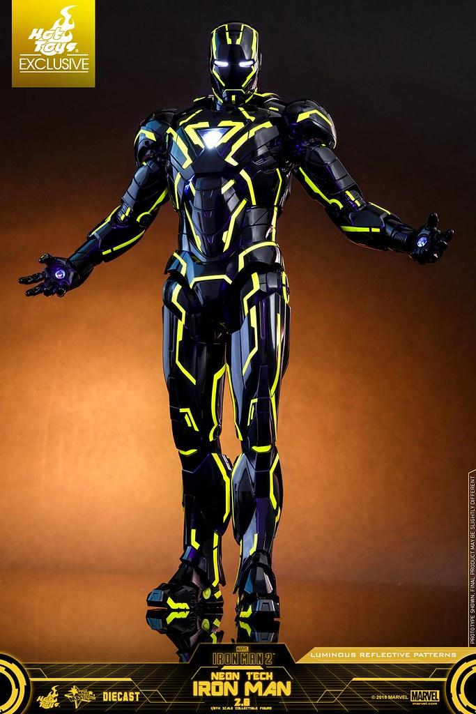 超未來感鋼鐵人再度襲來! Hot Toys – MMS523D29 –《鋼鐵人2》霓虹科技鋼鐵人 2.0 Neon Tech Iron Man 2.0 1/6 比例合金人偶作品【香港動漫節限定】