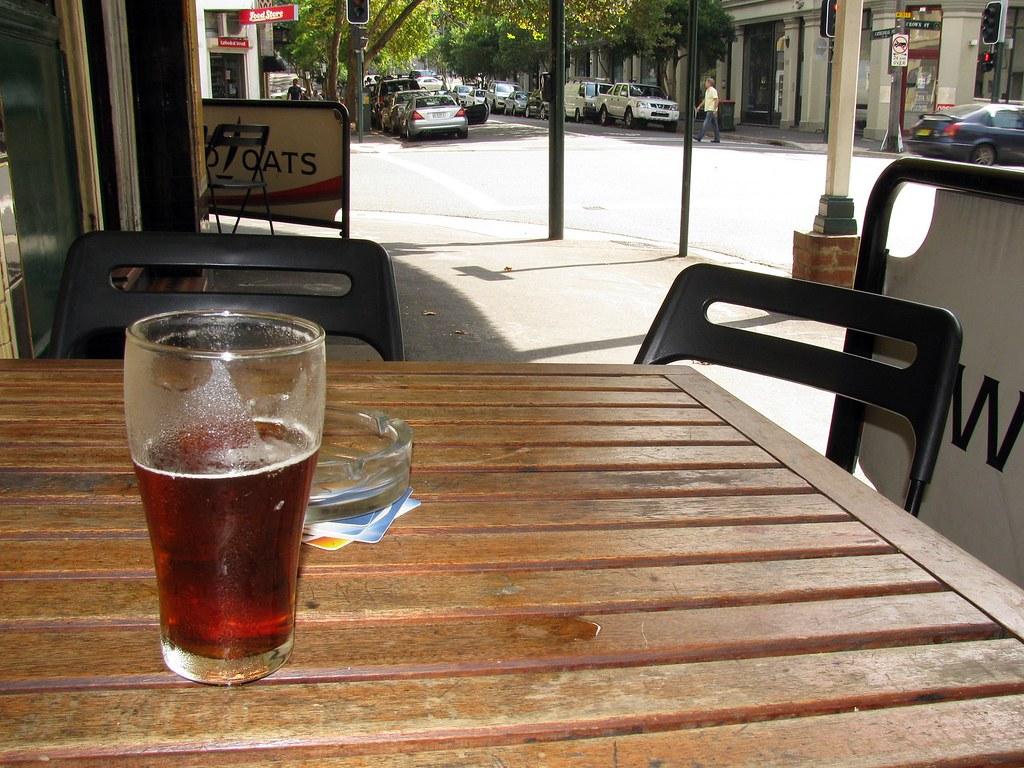James Squire Amber Ale, East Sydney Hotel, Woolloomooloo, Sydney, NSW.