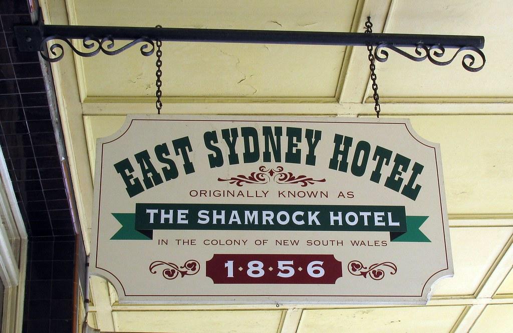 East Sydney Hotel Sign, Woolloomooloo, Sydney, NSW.
