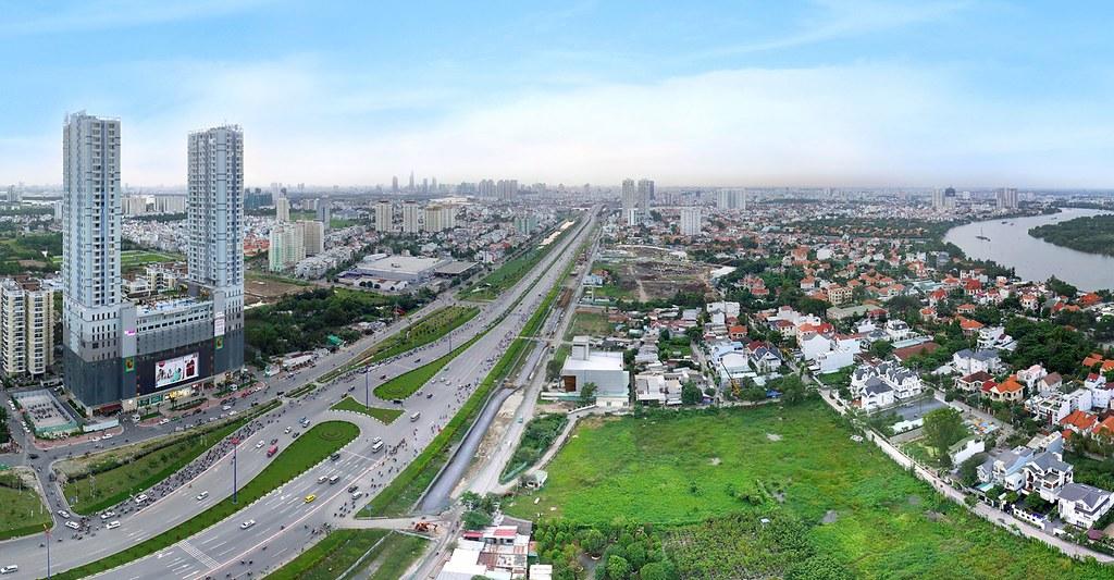 View từ căn hộ Gateway Thảo Điền