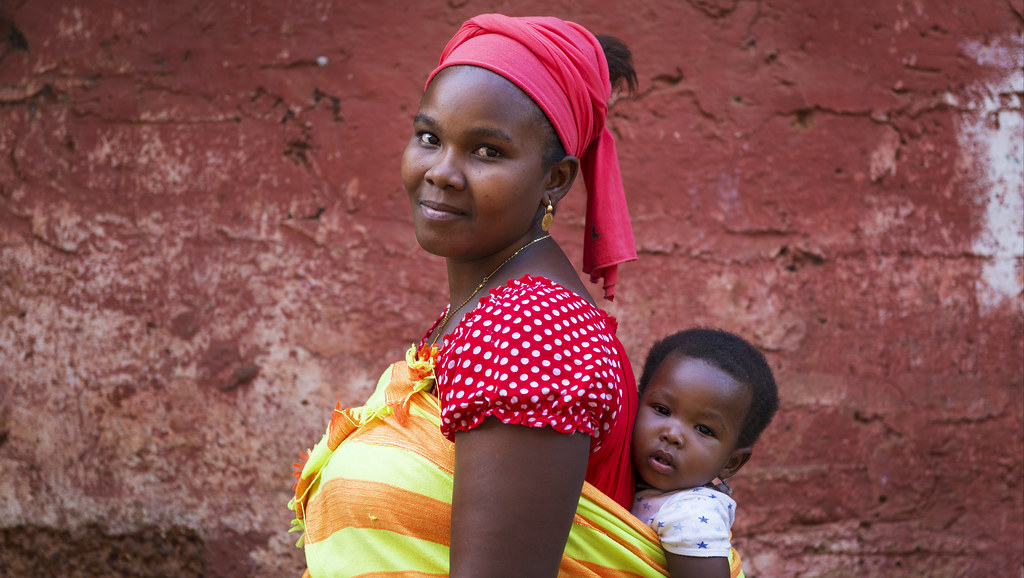 Mother and baby in Bissau, Guinea Bissau.