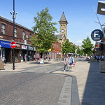 Glimpse of the 'shared space' of Fishergate, Preston