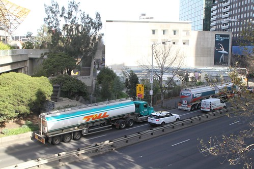 Fuel tankers on City Road in Southbank
