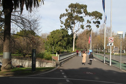 St Kilda Road passes over City Road and Alexandra Avenue