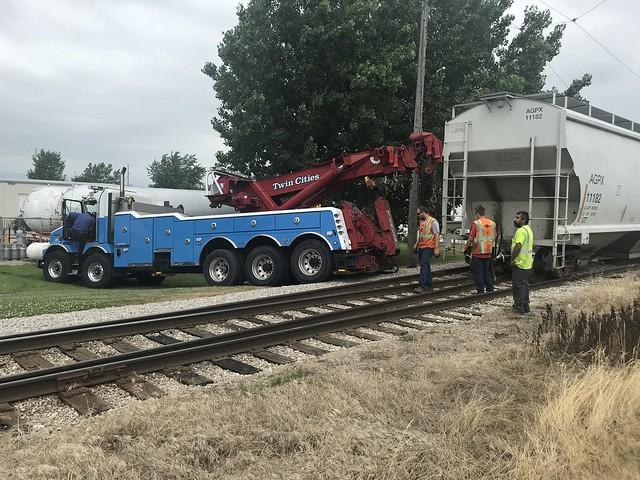 Iowa Traction Ry - Derailed Hopper