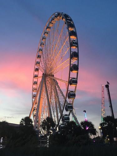 iphonese sunset evening skywheel southcarolina sc myrtlebeach