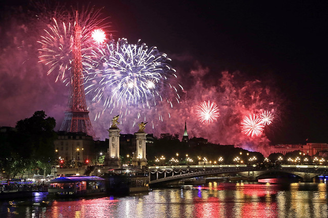 Bastille Day fireworks from 2016