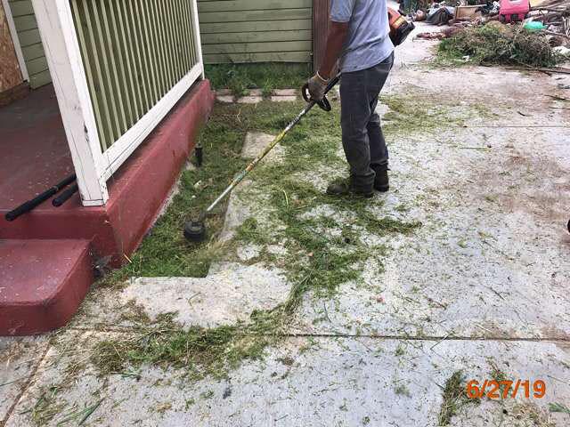 bank property grass cuts pasadena ca