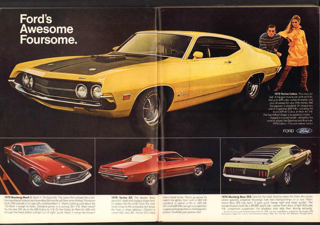 1970 Ford Torino Cobra - Mustang Mach 1 - Torino GT - Must