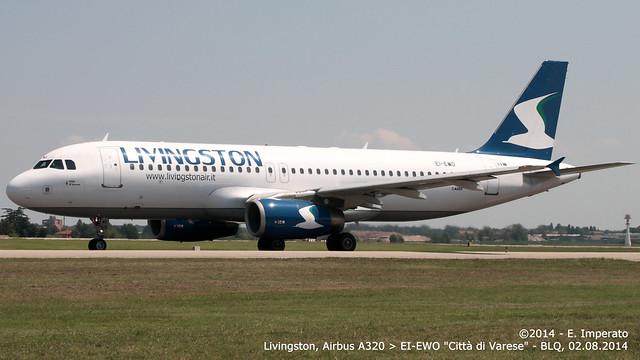 Livingston, Airbus A320 > EI-EWO (BLQ/LIPE 02.08.2014)