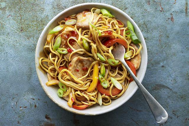 Sweet Chilli Pork & Pepper Noodles