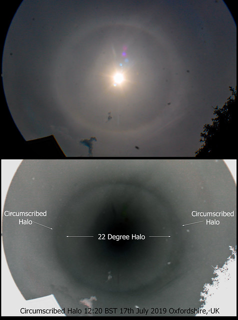 Circumscribed Halo from Oxfordshire 12:20pm BST 17/07/19