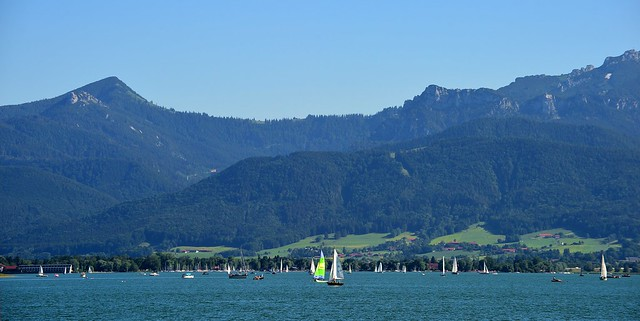 Chiemsee - Sailing Boats and Mountains