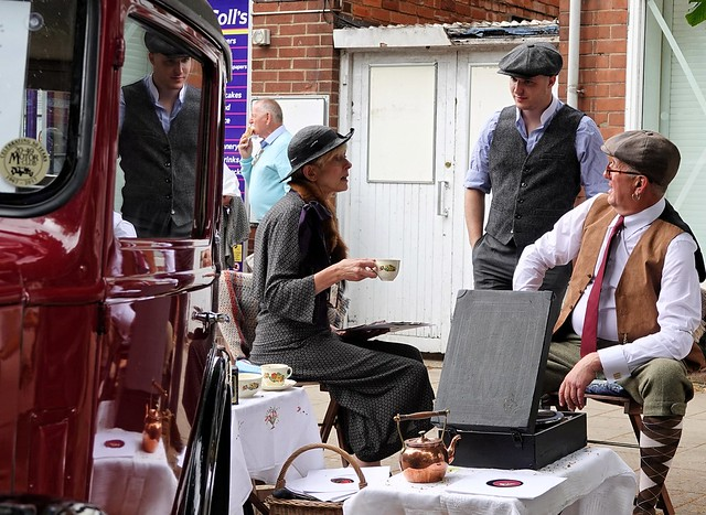 Woodhall Spa 1940s. July 2019. Tea Party