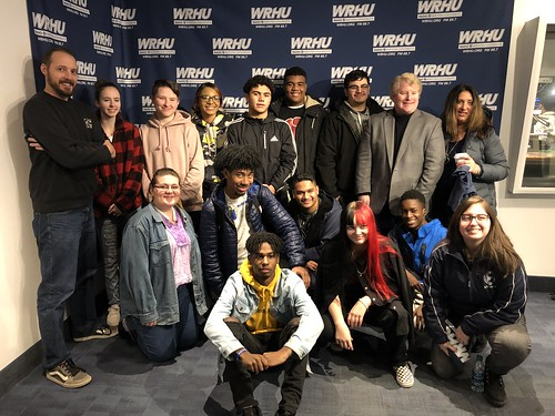 Local high schools visit WRHU to learn about media and broadcasting