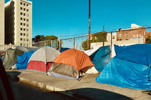 Living in a tent in DTLA. The new normal for the homeless in LA