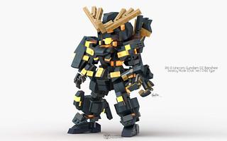 RX-0 Unicorn Gundam 02 Banshee Destroy Mode, OVA. Ver. Chibi Type Pose 01