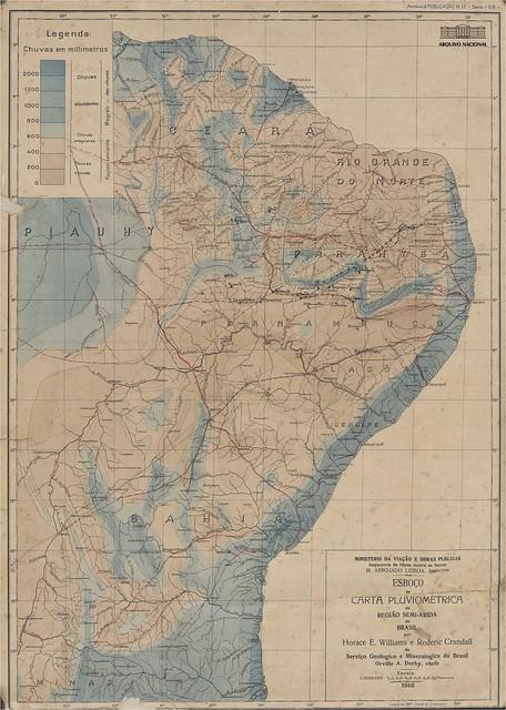 Carta Pluviométrica região Semiárida
