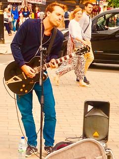 Musician in Trafalgar Square