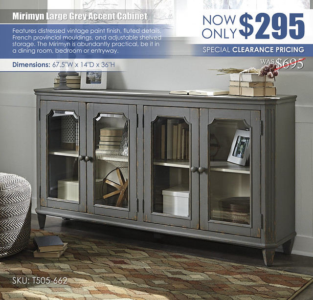 Mirimyn Large Grey Accent Cabinet_T505-662_Clearance