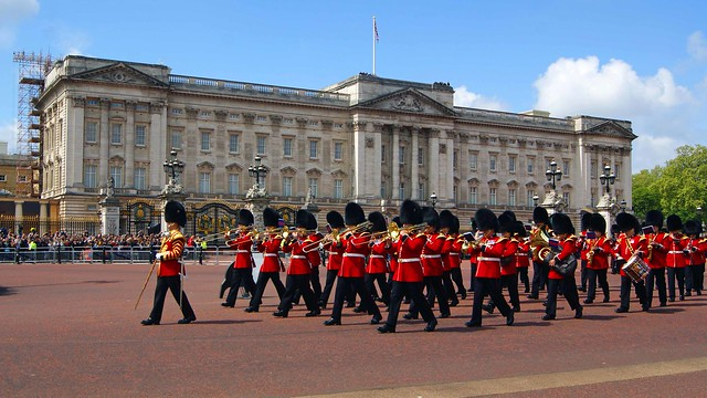 The band at Buckingham Palace