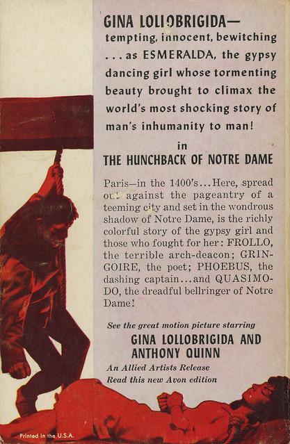 Avon Books T-190 - Victor Hugo - Hunchback of Notre Dame (back)