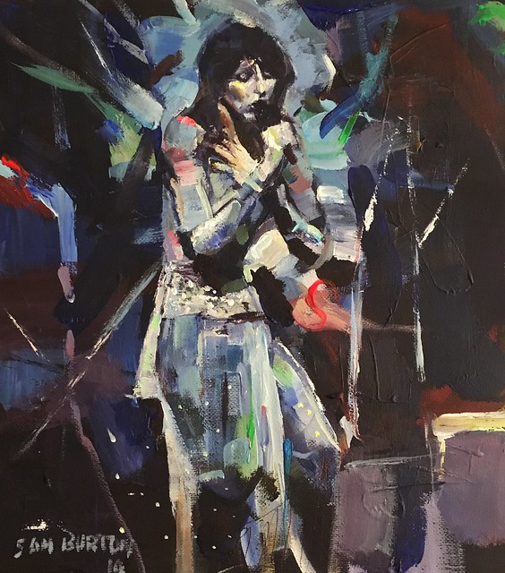 Another Kate Bush acrylic painting sketch 10 by 12 inches