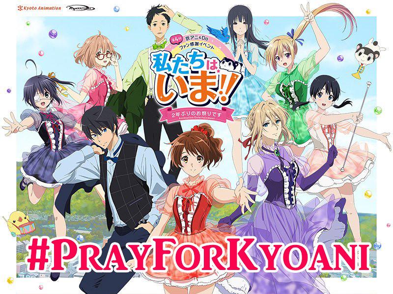 190718 -【#PrayForKyoani】日本動畫史上最悲慟的一天…『京都動畫縱火案』為69位受傷&罹難員工獻上祈福、致哀。【27日更新】
