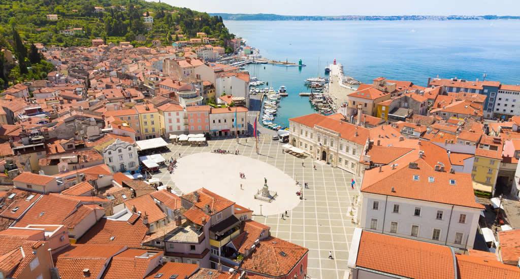 Piran, Slovenië: St. George kathedraal | Mooistestedentrips.nl