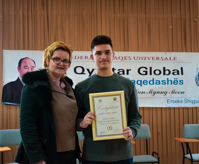 Albania-2019-05-16-UPF Founder's Life Inspires Essay Competition