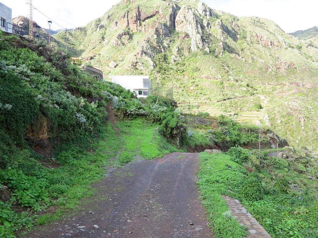 Comienzo del sendero desde Afur a Taganana