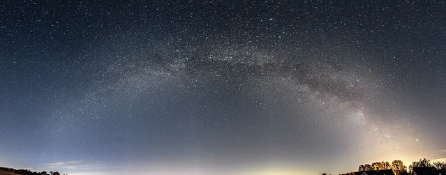 Milky Way Panorama from Oxfordshire 03:00 BST 12/05/19 (Reprocessed))