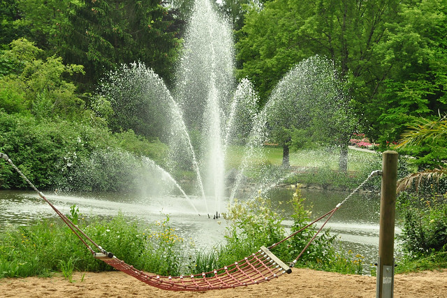 Gartenreise im Juli 2019 ... Kurpark Bad Wörishofen ... Brigitte Stolle