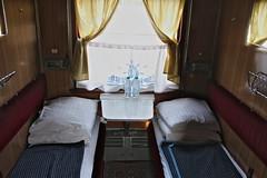 Night train Odessa-Kyiv interior