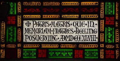 patris matris que in memoriam fratres Beeling posuerunt AD MDCCCXLVIII (NJ Cottingham, 1848)