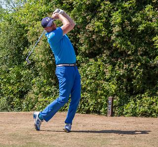 swinging in blue