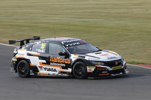 Snetterton BTCC Tyre Test Day 17th July 2019, Honda Civic Type R, Matt Neal Photo