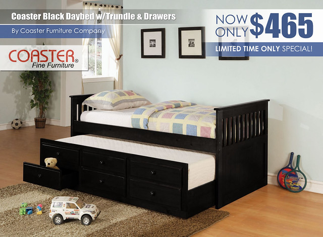 La Salle Black Daybed by Coaster Furniture