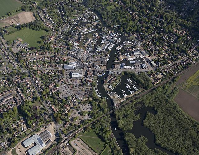 Aerial of Hoveton & Wroxham - Norfolk