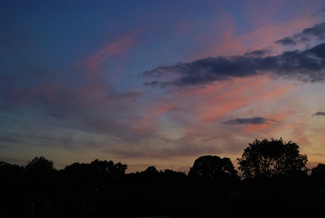 Evening sky over Wollaton