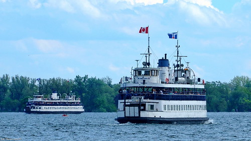 Toronto Island ferries 'Sam McBride' (l) & 'William Inglis' (r), seen off the Toronto downtown waterfront - 25 June 2019 [© WCK-JST] | by Wett Coast